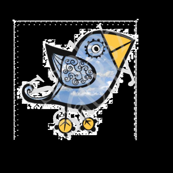 Birds 1a-Digital ClipArt-Art Clip-Gift