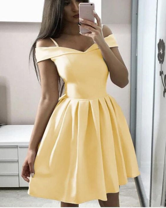 Fashionable Sweetheart Off Shoulder Homecoming Dress, Short Prom Dress