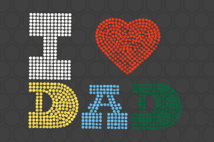 I love dad, dad svg, dad gift, dad lover, dad lover gift, family svg, family
