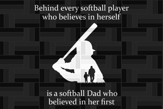 Behind every softball player who believes in herself,softball dad svg, softball