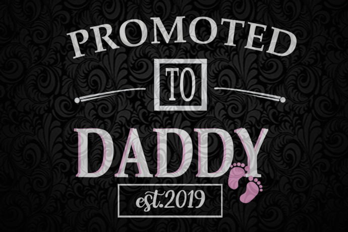 Promoted to daddy est 2019, daddy svg, daddy gift, daddy shirt, gift for daddy,