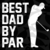 Best dad by par, gift for dad svg, golf lover svg,fathers day svg, fathers day