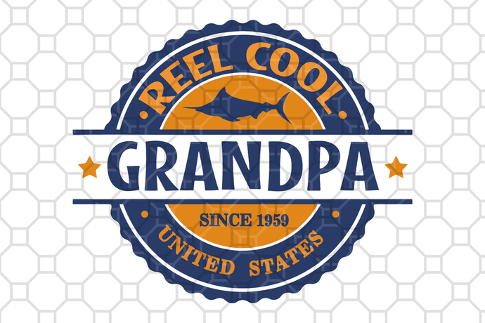 Reel cool grandpa since 1959, father's day,fathers day gift, gift for papa,
