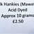 Hand Acid Dyed Silk Hankies - Mawata – approximately 10 grams 100% Silk  SHM3