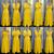 yellow bridesmaid dresses long convertible satin cheap infinite custom wedding