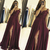 burgundy prom dresses long spaghetti straps Lace Applique beaded chiffon cheap a