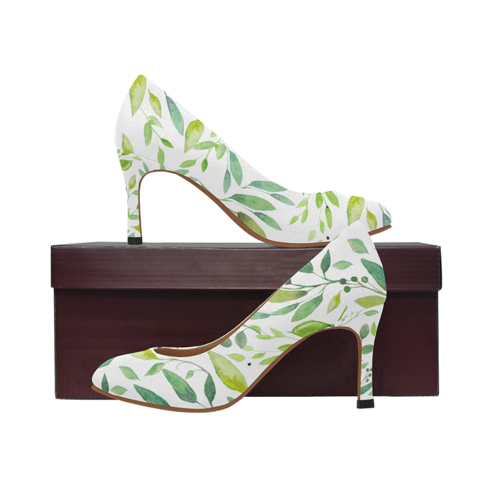 Tropical Leaves Women's High Heels, Summer High Heels for women