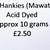 Hand Acid Dyed Silk Hankies - Mawata – approximately 10 grams 100% Silk  SHM12