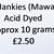 Hand Acid Dyed Silk Hankies - Mawata – approximately 10 grams 100% Silk  SHM18