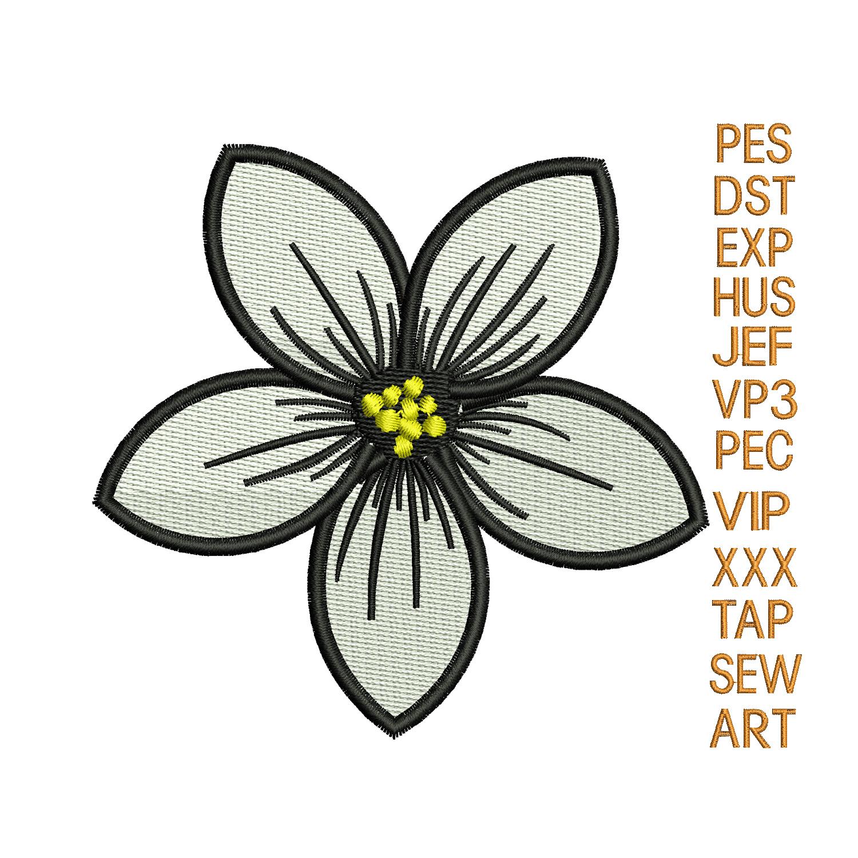 flower embroidery design,jasmine flower   NewEmbro