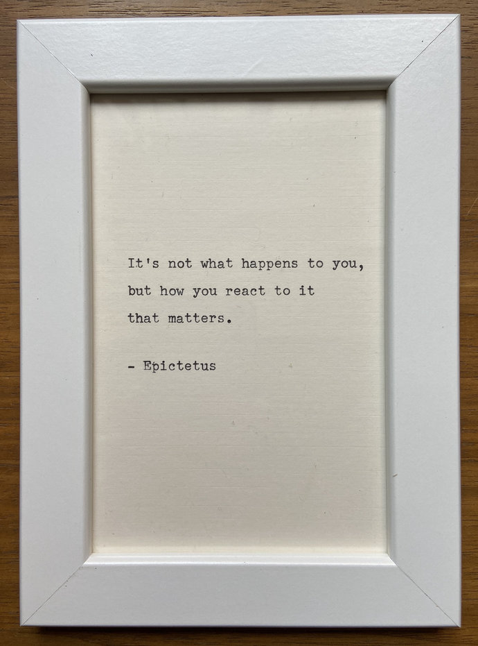 """NEW! Framed 6x4"""" literary quote - Epictetus (or a quote of your choice)"""
