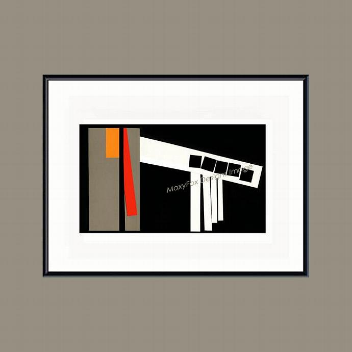 FIVE WINDOWS, Cities, Abstract, Bold, Diagonal Collage, Windows, Print,  Pikes
