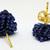 Beaded Triangle Stud Earrings - Navy
