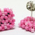 Beaded Square Stud Earrings - Bubblegum Pink with silver posts