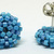 Beaded Circle Stud Earrings - Robin Egg Blue with silver posts