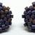 Beaded Circle Stud Earrings - Matte Metallic Purple with silver posts