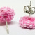 Beaded Circle Stud Earrings - Bubblegum Pink with silver posts