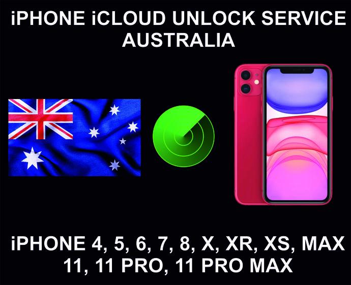 iCloud Unlock Service, Clean Status, Australia, iPhone 4, 5, 6, 7, 8, X, XR, XS,