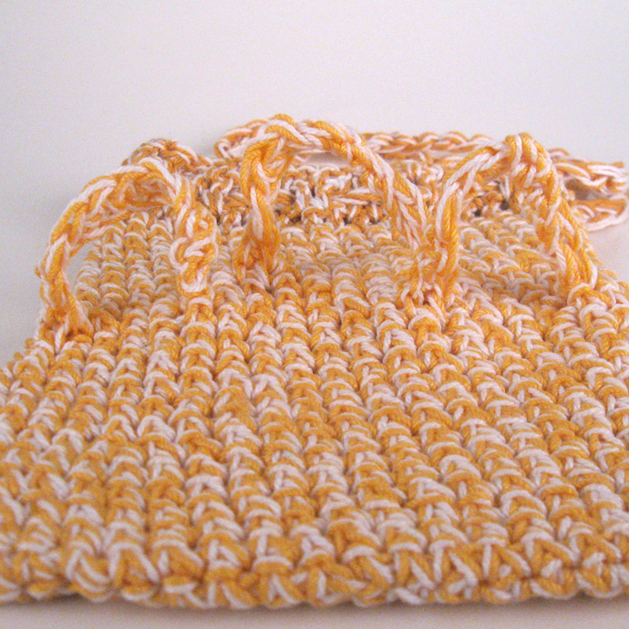 Orange Adaptive Soap Saver with Finger Loops