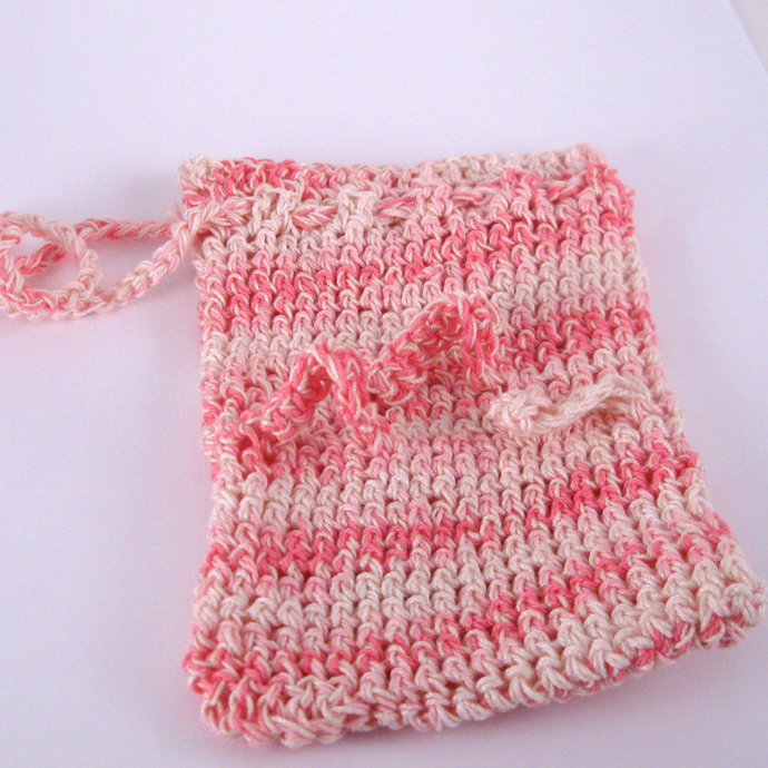 Pink Variegated Adaptive Soap Saver with Finger Loops