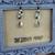 Rutilated Quartz lotus earrings