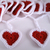 Crocheted Red Heart Garland Bunting Decoration