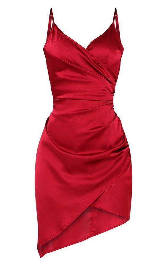A-line Red Straps Homecoming Dress  M 224