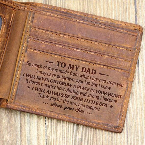 Father's Day Gifts For Dad - Leather Wallet For Dad - Perfect Gifts For My Dad -