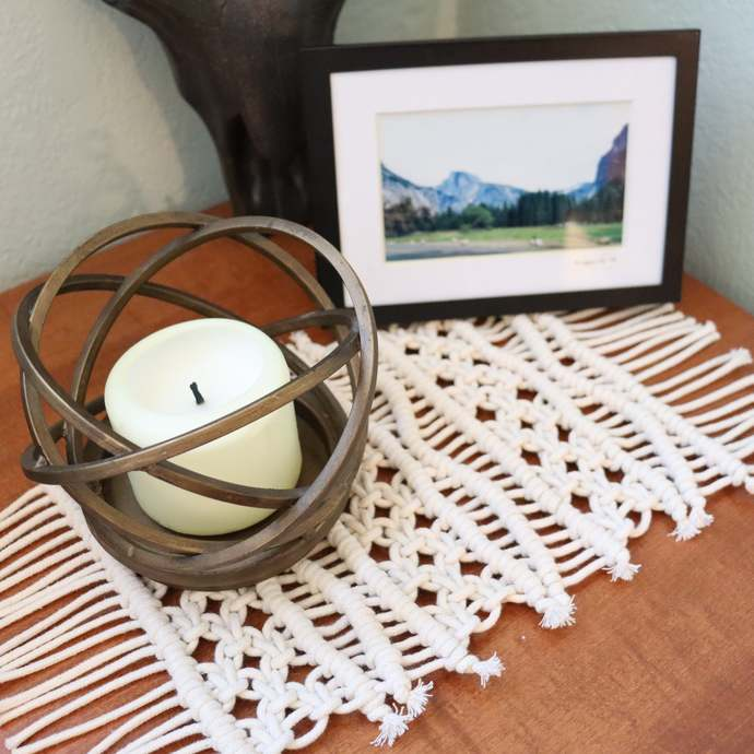 Macrame Table Mat | Handmade Anthropologie Inspired Runner | Table Top Decor |