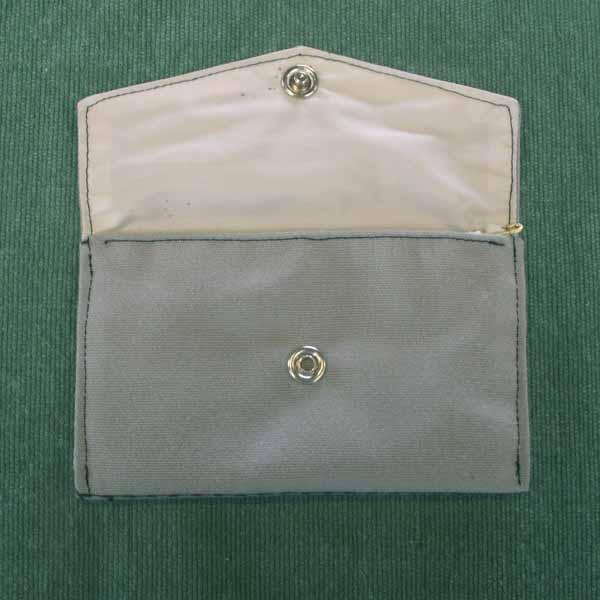 Cheerful Gray Embroidered Pocket Purse