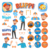 Blippi Illustrations, Magic Bundle Vector Graphic