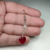 Handmade Swarovski Crystal Heart Earrings with Sterling Silver