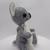 Hand Sewn Felt koala bear- grey and white