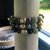 Golden Buddha and Rhinestone Stretch Bead Bracelet with Kabamby African Ocean