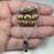 Handmade Bone Beaded Steel Chain Necklace
