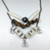 Handmade Stone and Bone Bib Necklace