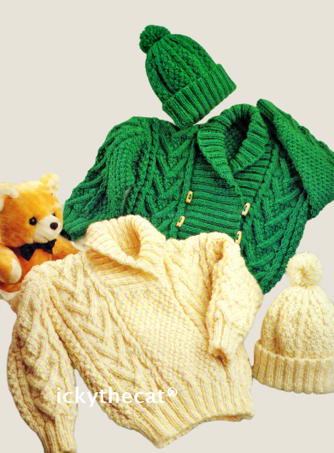 PDF Digital Download Vintage Knitting Pattern Spectrum 8080 Baby Child Aran