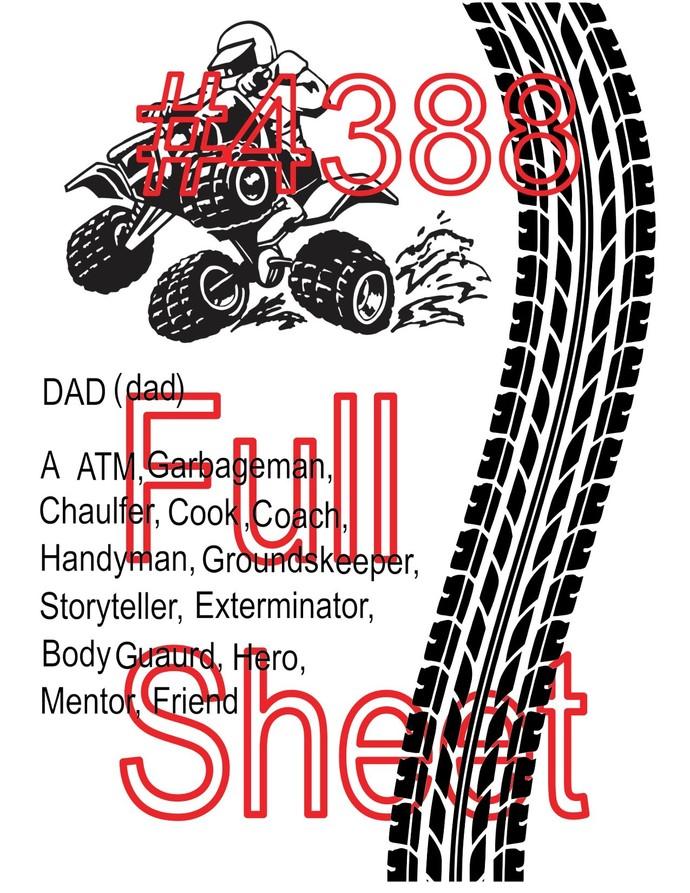 """Waterslides """"DAD"""" #4488 Laser printed"""
