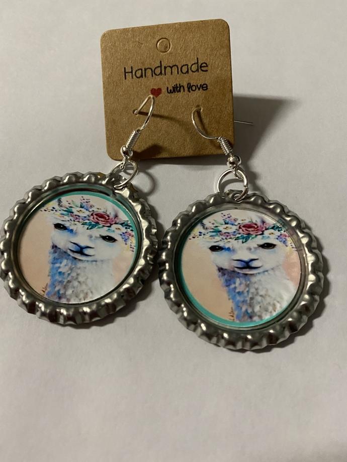 Llama dangle earrings