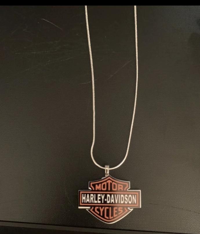 Handmade Harley Davidson necklace