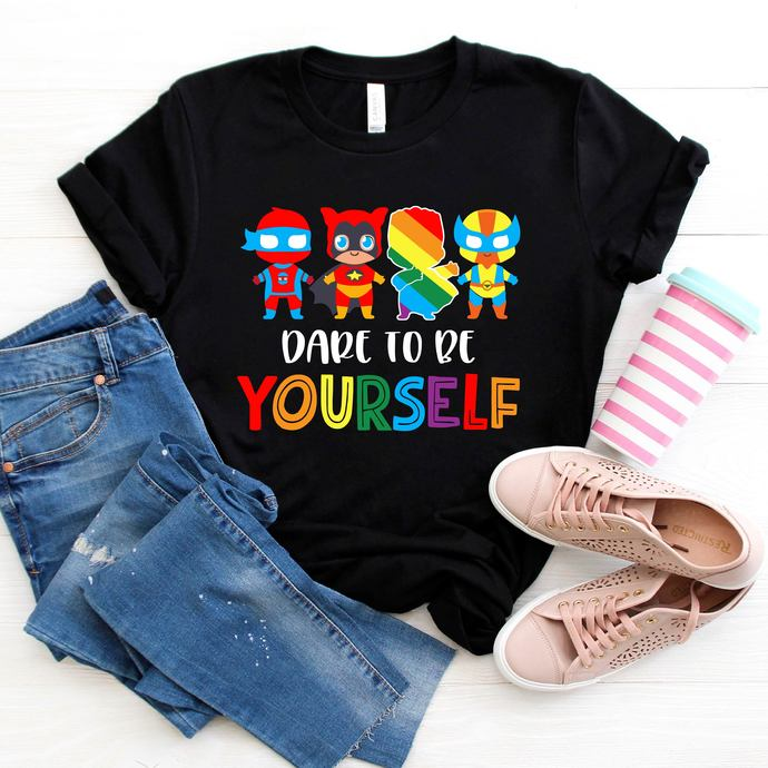Dare To Be Yourself Svg, Super Heroes, Lgbt, Lgbt month svg, I am gay svg, Lgbt