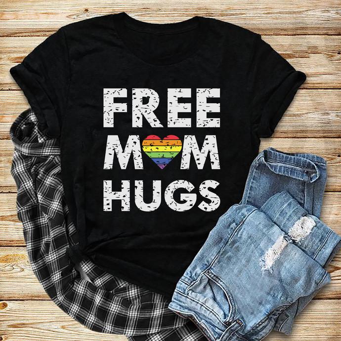 Free Mom Hug Svg, Heart Svg, Lgbt, Lgbt month svg, I am gay svg, Lgbt pride svg,