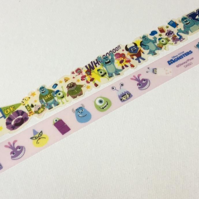 2 Rolls of Japanese Disney Irregular  Washi Tape- Monsters Inc