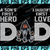 Cincinnati Bengals DAD a Son's First Hero Daughter's First Love svg, Father's