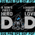 Detroit Lions DAD a Son's First Hero Daughter's First Love svg, Father's Day
