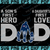 New England Patriots DAD a Son's First Hero Daughter's First Love svg, Father's