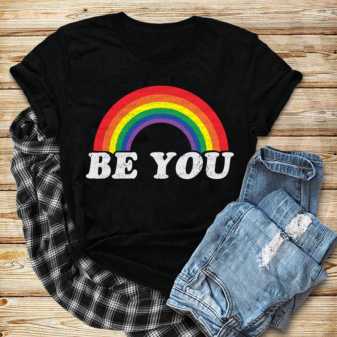 Be You Svg, Rainbow Svg, Lgbt month svg, I am gay svg, Lgbt pride svg, lgbt