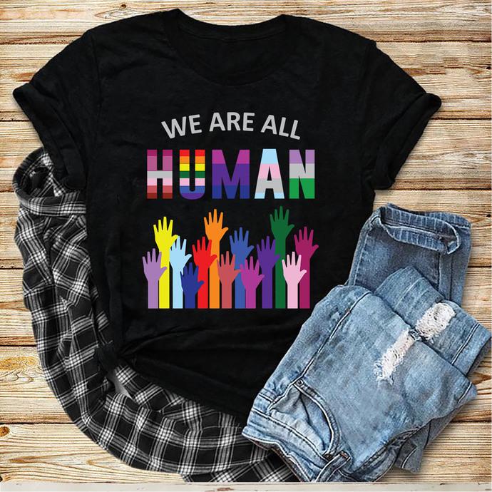 We Are All Human Svg, Hands Svg, Lgbt month svg, I am gay svg, Lgbt pride svg,