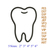 Tooth Applique Embroidery Design,tooth embroidery pattern,Dentist Dental Doctor