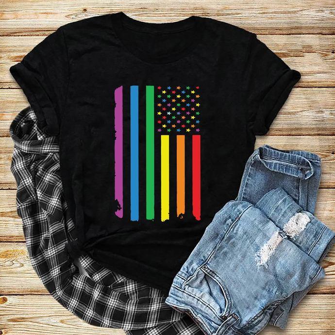 American Flag, Rainbow Flag, Lgbt month svg, I am gay svg, Lgbt pride svg, lgbt
